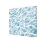 Close up of rippled water, Miami, FL Stretched Canvas Print