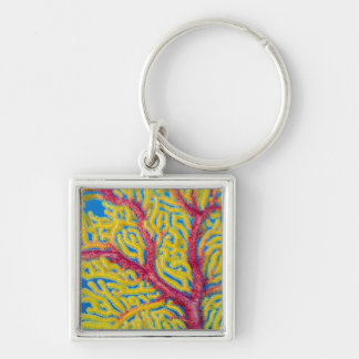 Close up of Soft Coral Key Ring
