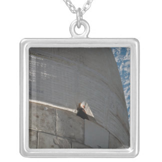 Close-up of Space Shuttle Atlantis Silver Plated Necklace