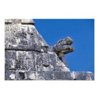 Close up of stones making an ancient Mayan Photo