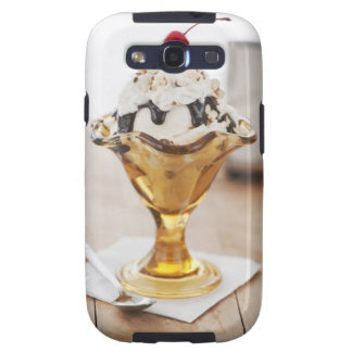 Close up of sundae with cherry on top galaxy s3 cover
