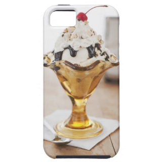 Close up of sundae with cherry on top iPhone 5 cases