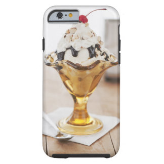 Close up of sundae with cherry on top tough iPhone 6 case