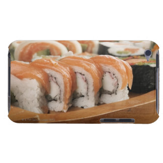 Close-up of sushi in a platter barely there iPod case