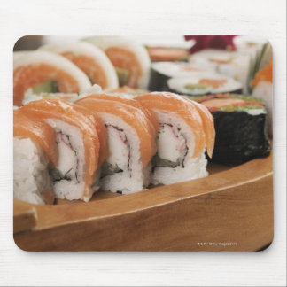 Close-up of sushi in a platter mouse mat