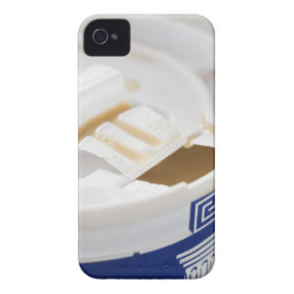 Close up of take out coffee iPhone 4 cases