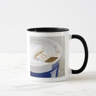 Close up of take out coffee mug