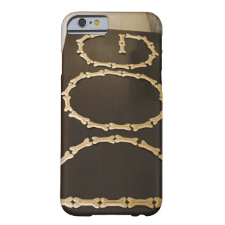 Close-up of text DOG made with dog biscuits on a Barely There iPhone 6 Case