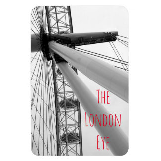 Close up of the London Eye in black and white Magnet