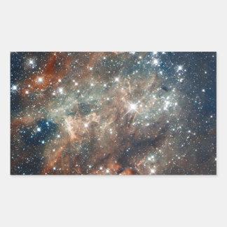 Close-up of the Tarantula Nebula Rectangular Sticker