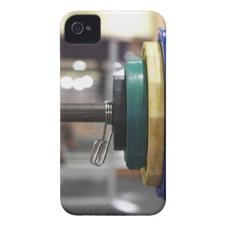 Close-up of the weights on a barbell iPhone 4 Case-Mate case