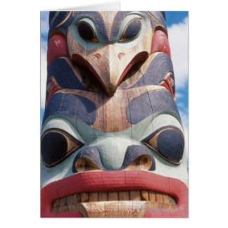 Close-up of totem pole in Sitka, Alaska, USA Card