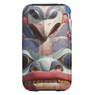 Close-up of totem pole in Sitka, Alaska, USA iPhone 3 Tough Cover