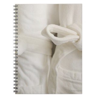 Close up of towels in spa spiral notebook