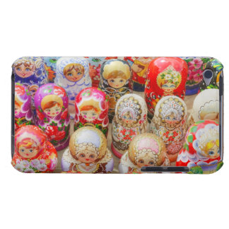 Close-up of traditional Russian nested dolls Barely There iPod Case