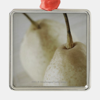 Close-up of two pears Silver-Colored square decoration