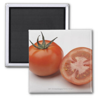 Close-up of two tomatoes square magnet