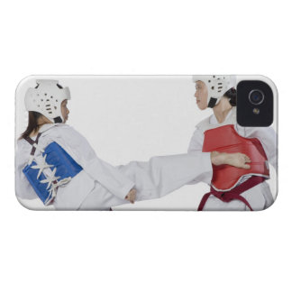 Close-up of two young women practicing iPhone 4 cover