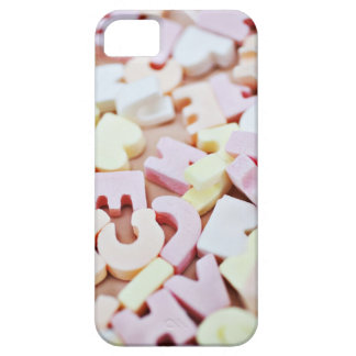 Close up of vibrant candy alphabet iPhone 5 cover