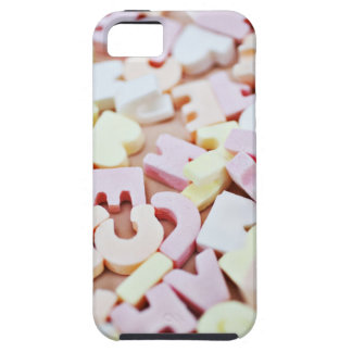 Close up of vibrant candy alphabet iPhone 5 case