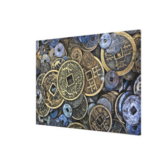 Close up of Vietnamese coins Gallery Wrap Canvas