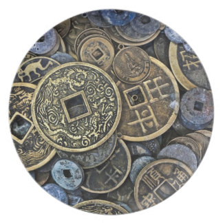 Close up of Vietnamese coins Plate
