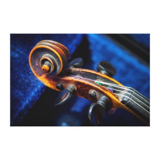 Close-Up Of Violin In Its Case Canvas Print