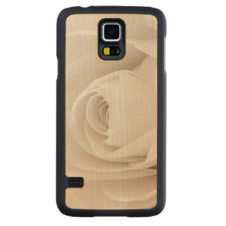 Close up of White Rose Petals Maple Galaxy S5 Case