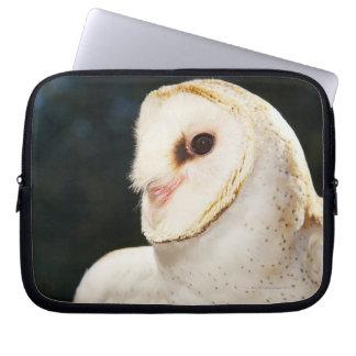 Close-up of wild owl laptop sleeve