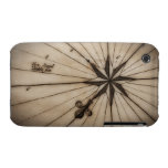 Close up of wind rose on antique map iPhone 3 cover