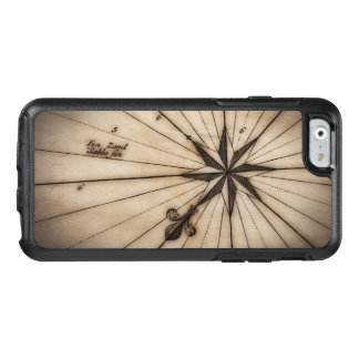 Close up of wind rose on antique map OtterBox iPhone 6/6s case