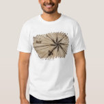 Close up of wind rose on antique map t-shirt