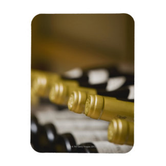 Close up of wine bottle tops rectangular magnet