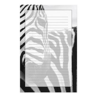 Close-up of zebra face and shoulder custom stationery
