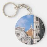 Close up on Florence. Basic Round Button Key Ring