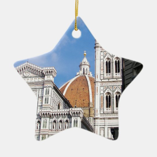 Close up on Florence. Ceramic Star Decoration