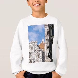 Close up on Florence. Sweatshirt