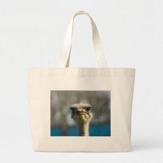 Close_Up_Ostrich_FullSize.jpg Large Tote Bag