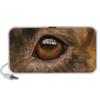 Close-Up Painting of Pit Bull's Eye Mp3 Speaker
