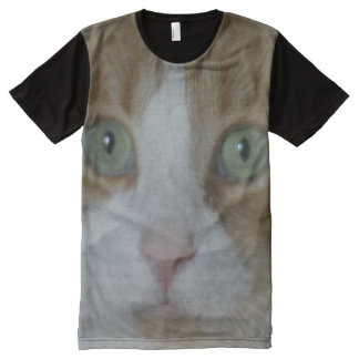 Close-up photograph. Red tabby cat - nose and paw All-Over Print T-Shirt
