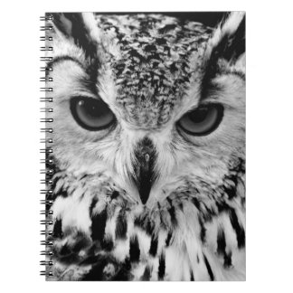 Close Up Portrait Of Eurasian Eagle-owl Notebook