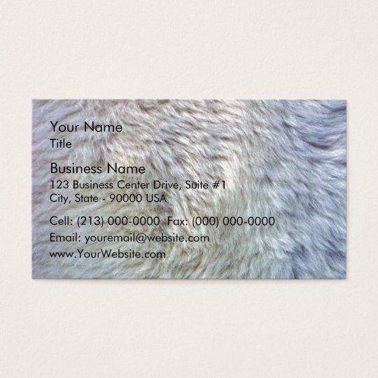 Close up sheepskin texture business card