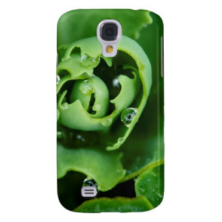 Close-up, succulent plant with water droplets galaxy s4 case