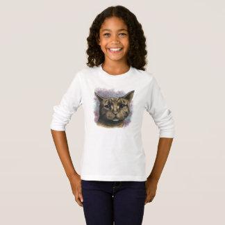 Close Up Tabby Cat Realistic Drawing T-Shirt