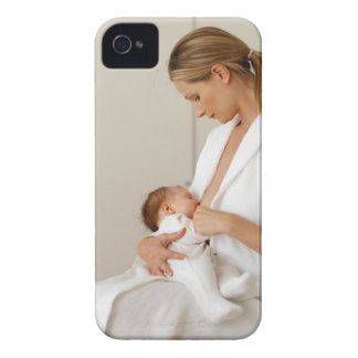 close up view of a baby (6-12 months) iPhone 4 Case-Mate case
