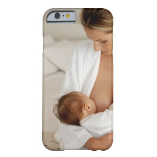Close up view of a mother breastfeeding her baby barely there iPhone 6 case