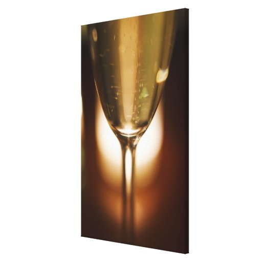 Close-up view of champagne glass gallery wrap canvas