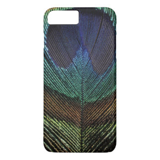 Close up view of eyespot on male peacock feather iPhone 8 plus/7 plus case