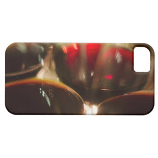 Close-up view of red wine glasses barely there iPhone 5 case