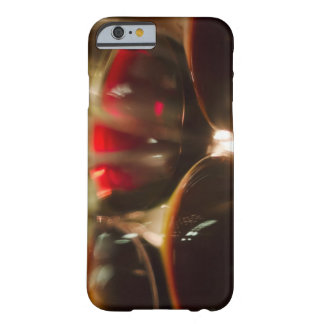 Close-up view of red wine glasses barely there iPhone 6 case